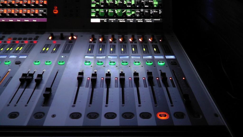 AV mixing desk 1